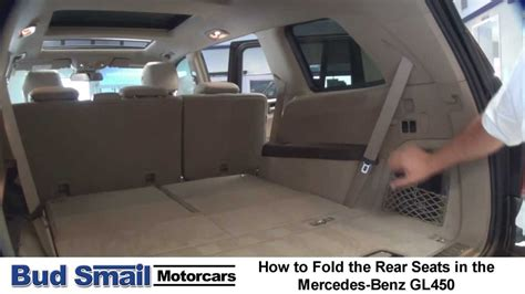 Folding The Rear Seats in a Mercedes-Benz GL450 - YouTube