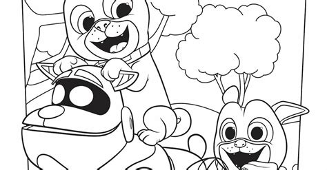 Puppy Dog Pals Coloring Page Activity | Disney Family