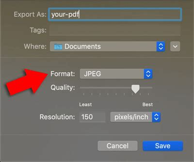 How to save a PDF as a JPEG picture file (Mac and PC)