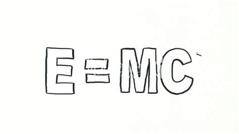 E=MC2: Royalty-free video and stock footage