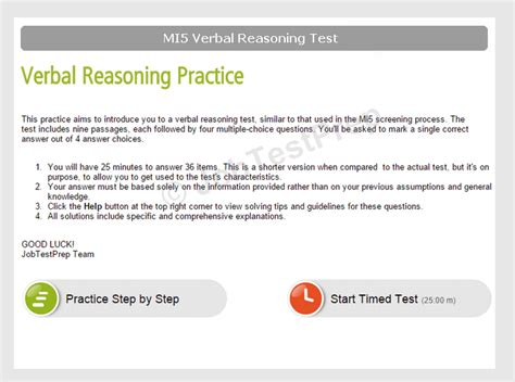 MI5 Verbal Reasoning Test Practice - With Score Reports