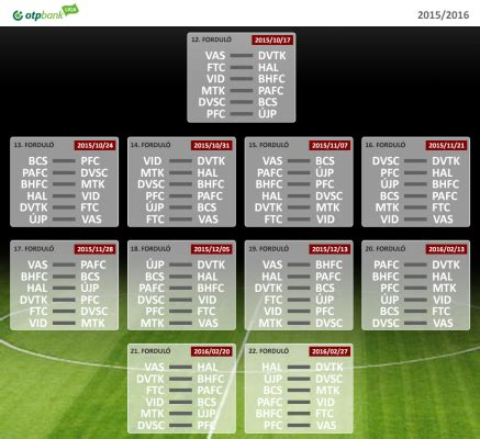 The Hungarian 1st division fixtures are out!   Hungarian