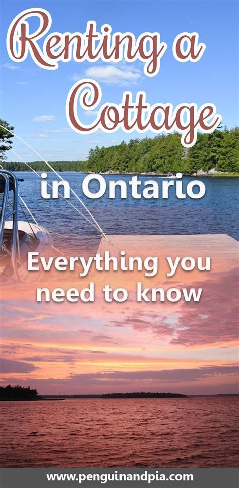 Cottage Rentals in Ontario: Everything You Need to Know