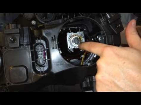 Headlight bulb replacement in a Mercedes GLK350 - YouTube