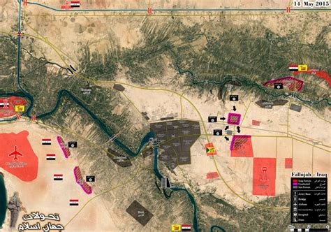 Battle Map of Fallujah: Iraqi Army on the Offensive