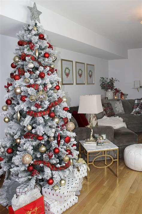 My Living Room for the Holidays   Gold christmas