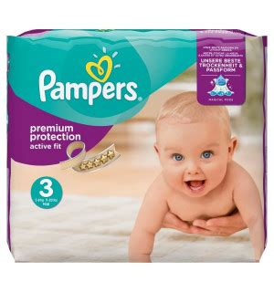 Couches Premium Protection Active Fit T3 (4-9 kg) PAMPERS