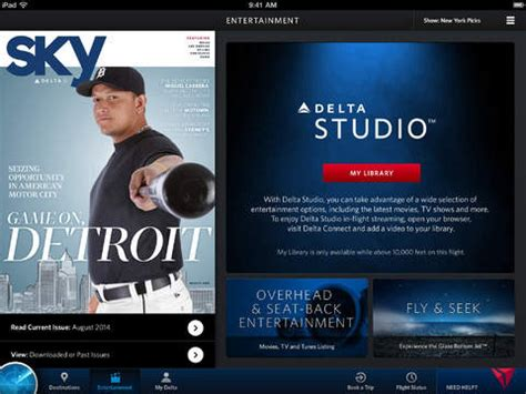 Delta Airlines Launches In-Flight Entertainment for iOS